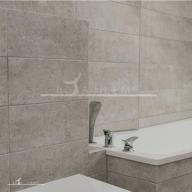 Beautiful bathroom with amatis limestone effect tile