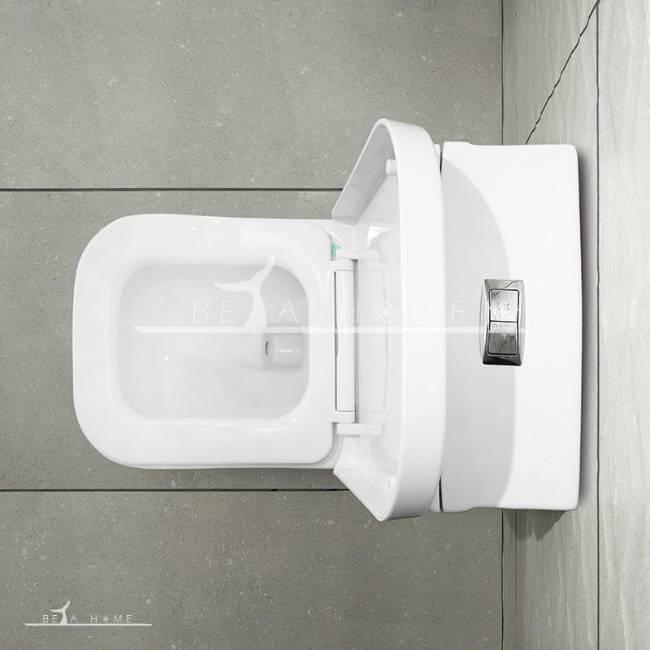 Morvarid katia toilet top view open seat