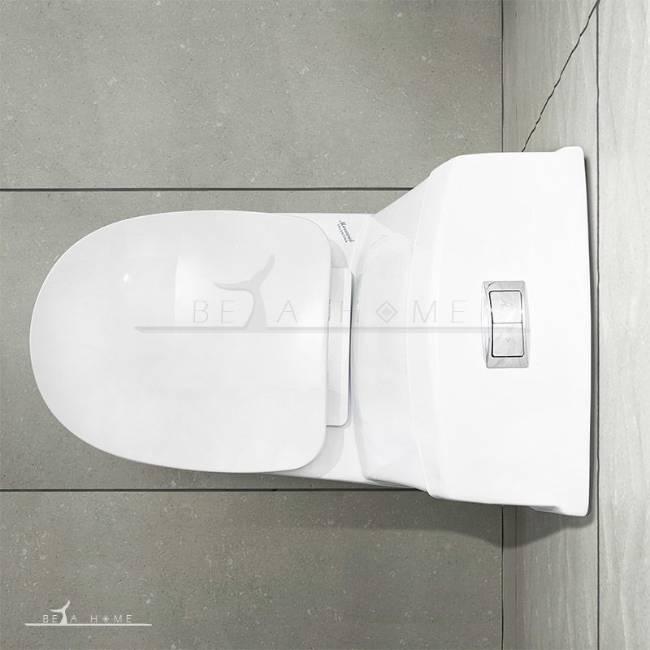 Morvarid toilet valentina top view closed seat