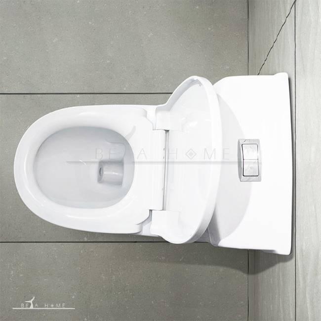 Morvarid toilet valentina top view open seat
