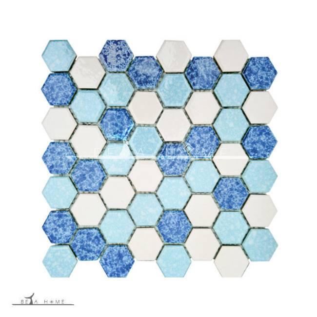 Artema ceramic atlantic hexagon blue cloud mix