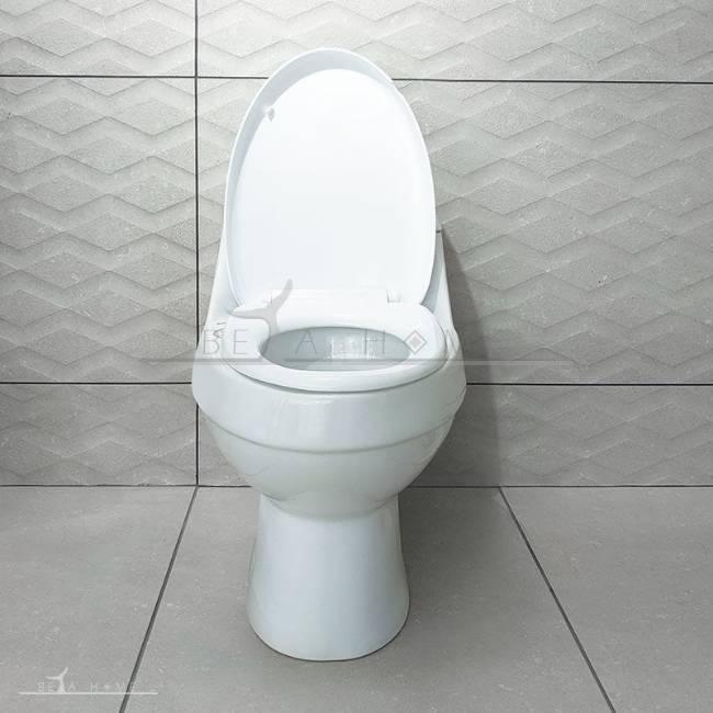 Elegant morvarid toilet front view open seat