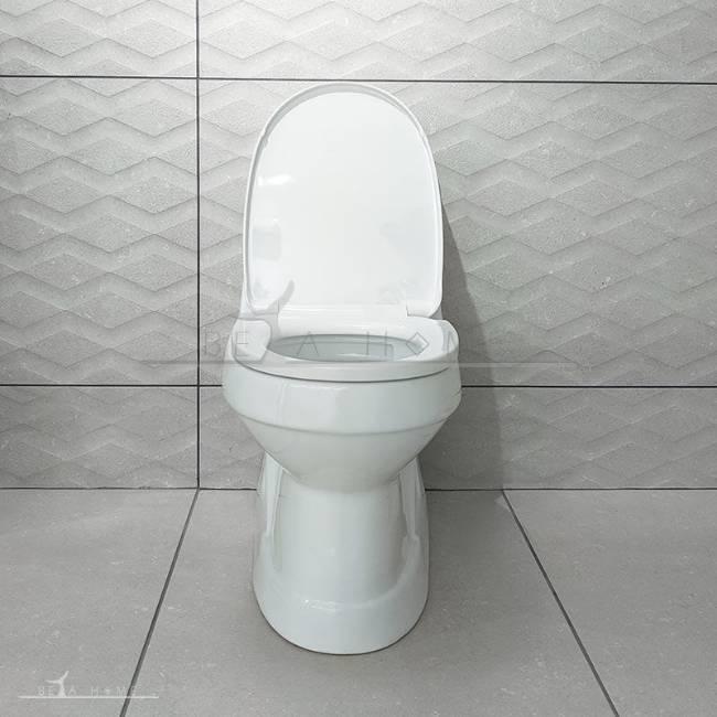 Morvarid valentina toilet front view open seat