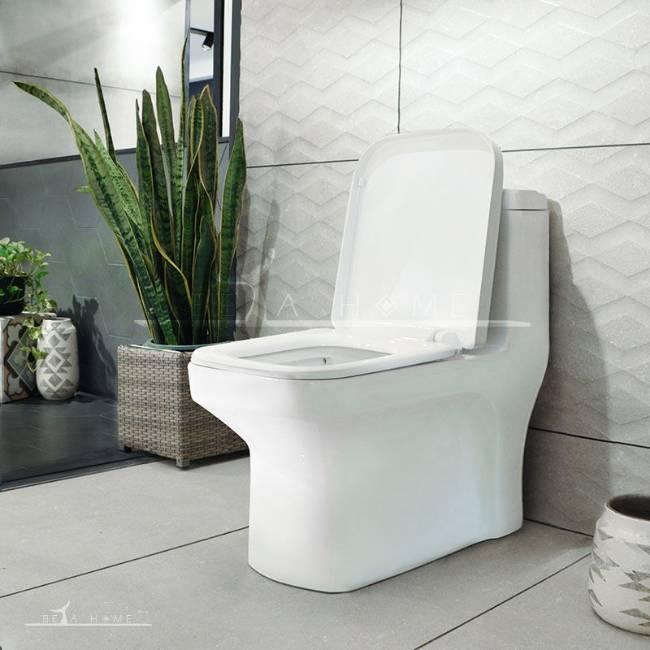 Morvarid sanitary Volga modern toilet open seat