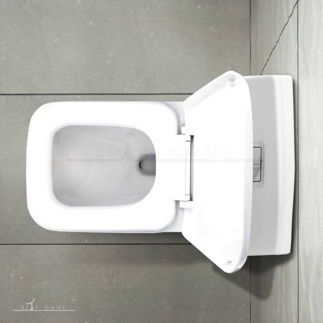 Morvarid sanitary Volga modern toilet top view open seat