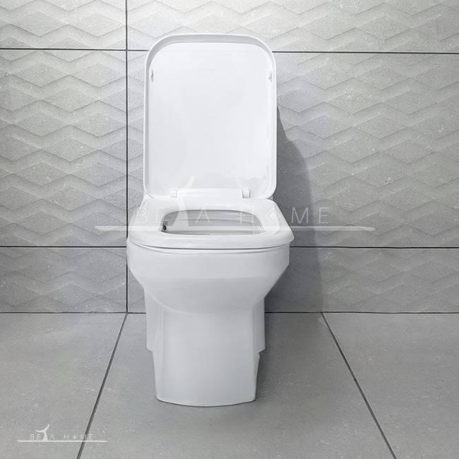 Morvarid sanitary yaris toilet front view seat open