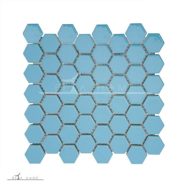 شش گوش آبی (HX-BLU-2) آرتما سرامیک