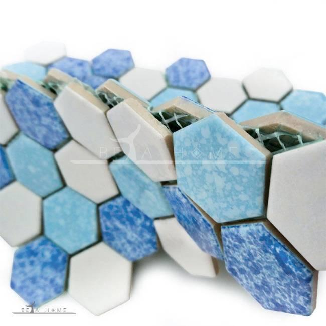 Artema ceramic atlantic hexagon blue cloud mix fold