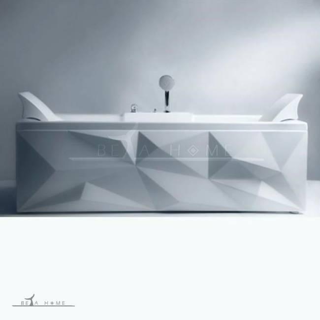 Diamond bath with head rest modern design
