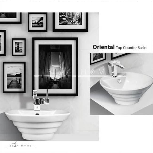 Beautiful Oriental designer bathroom sink counter top