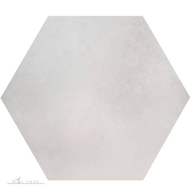 Rio white hexagon 30cm tile