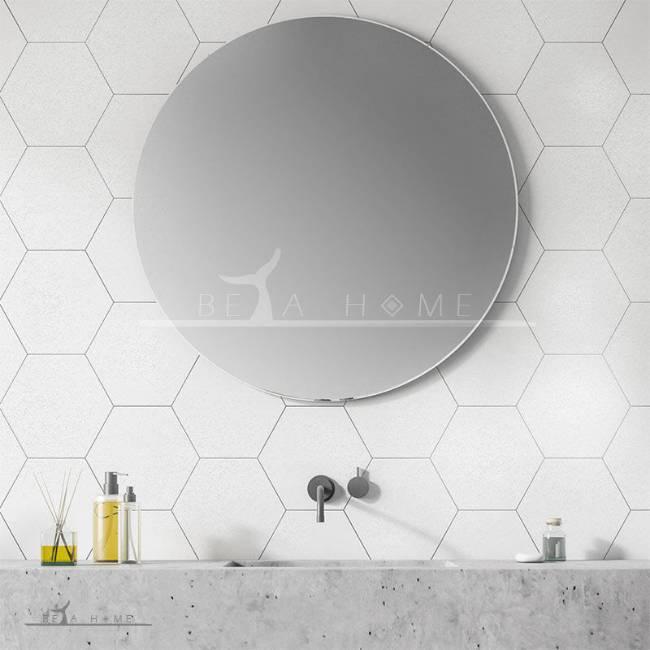 Goldis rio large white hexagon tiles