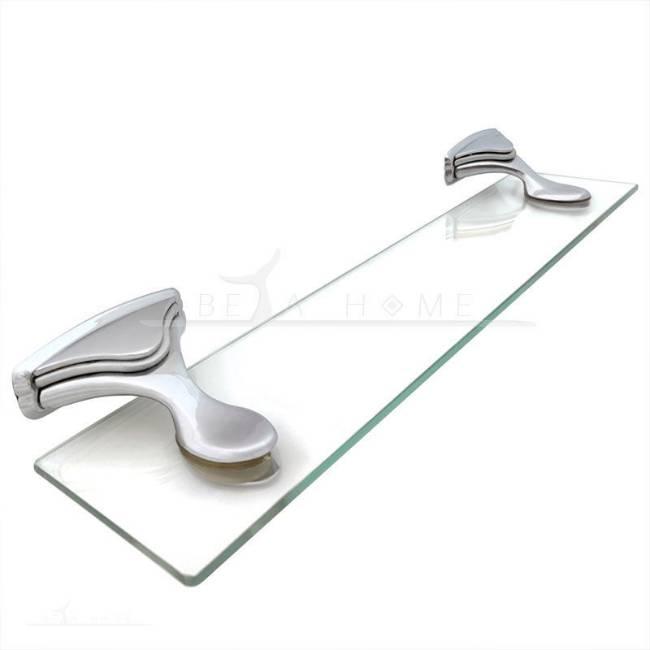 Chrome and glass bathroom shelf