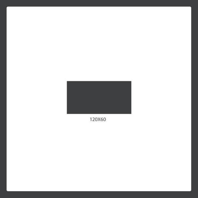 120x60 cm tile size