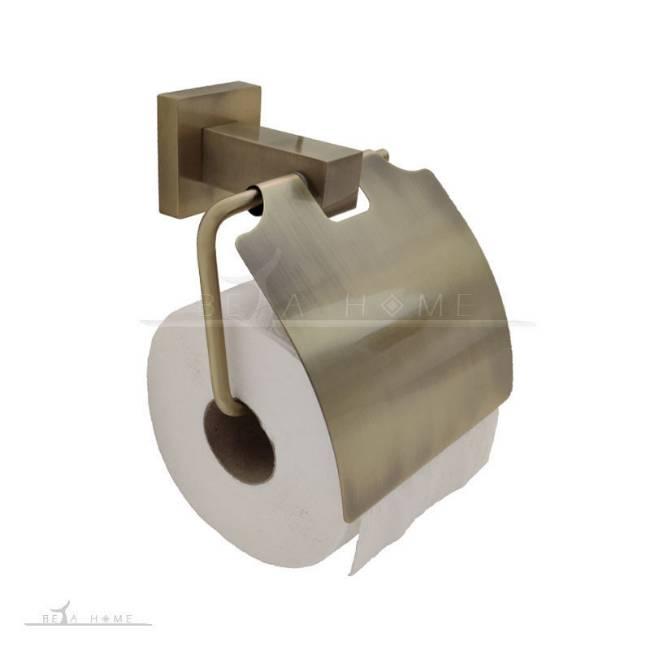 brass effect toilet roll holder