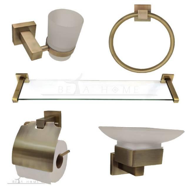 bathroom accessory set