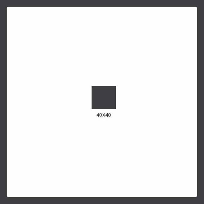 40x40 tile dimensions