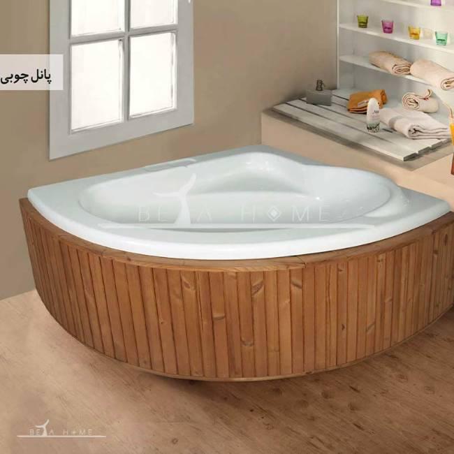 Persian standard victoria corner bathtub wood panel