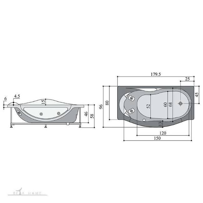 persian standard kiana bath dimensions