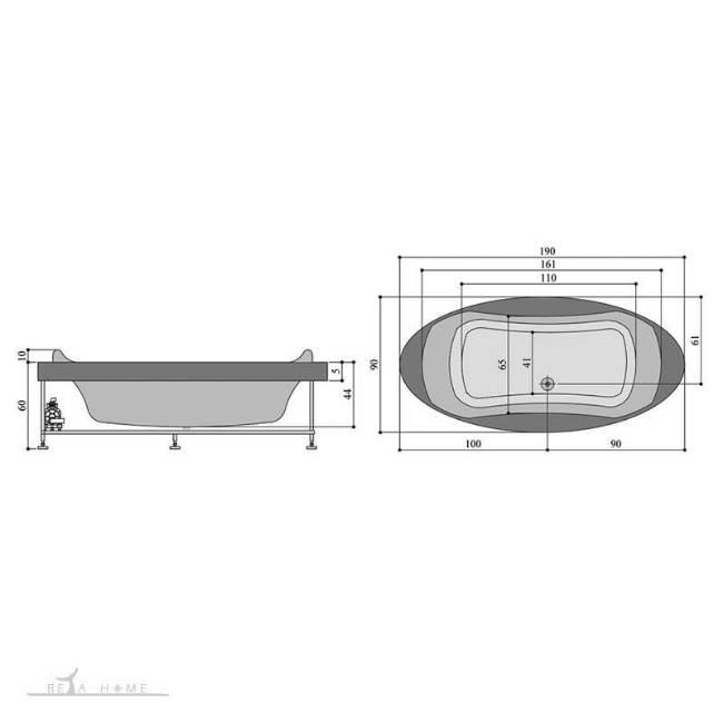 persian standard parmis jacuzzi dimensions