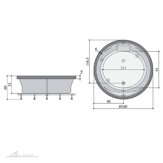 persian standard kenzia bath dimensions