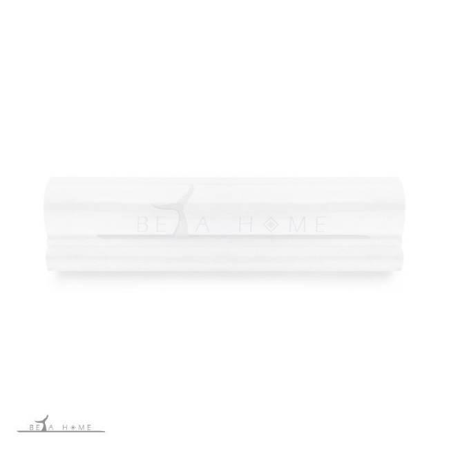 London white dado rail tile
