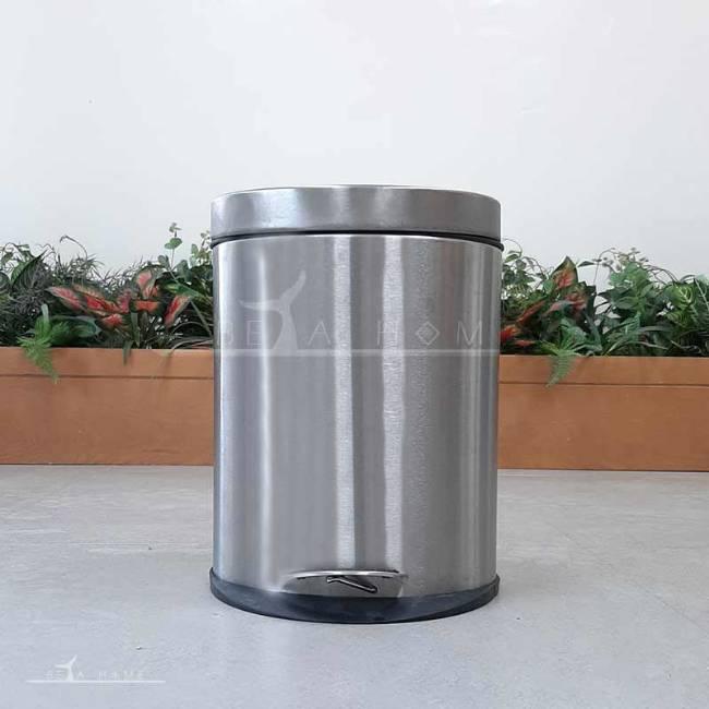 chrome bathroom bin